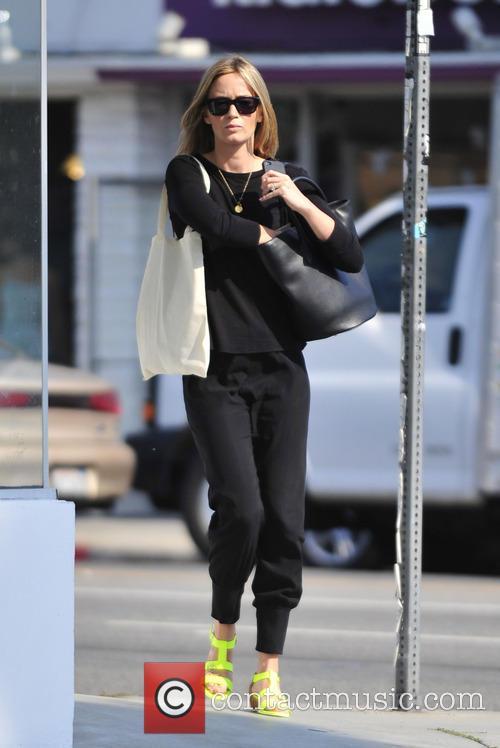 Emily Blunt seen shopping