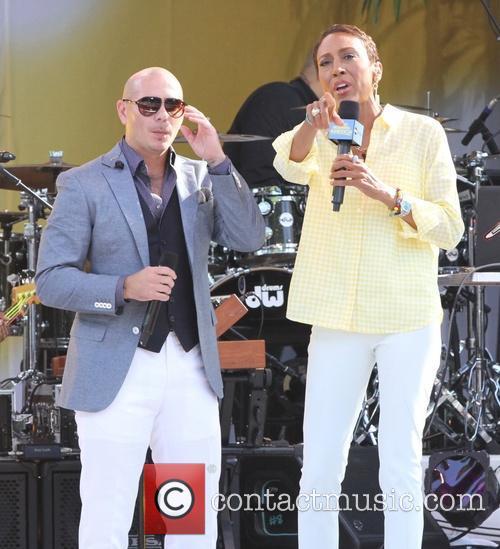 Pitbull, Armando Perez, Robin Roberts, Central Park, Good Morning America