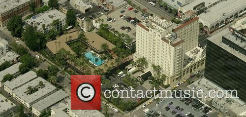 Aerial photos of the Hollywood Roosevelt Hotel in...