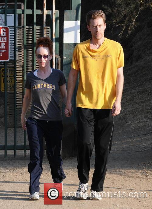 Comedian Kathy Griffin enjoys a romantic stroll with...