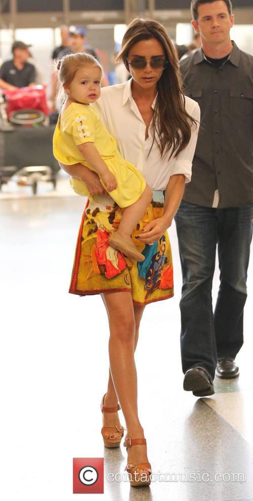 Victoria Beckham and Harper Beckham 9