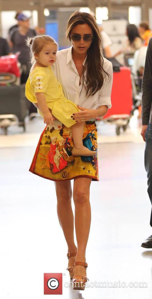 Victoria Beckham and Harper Beckham 11