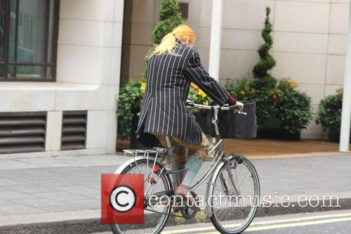 Vivienne Westwood spotted cycling through Mayfair