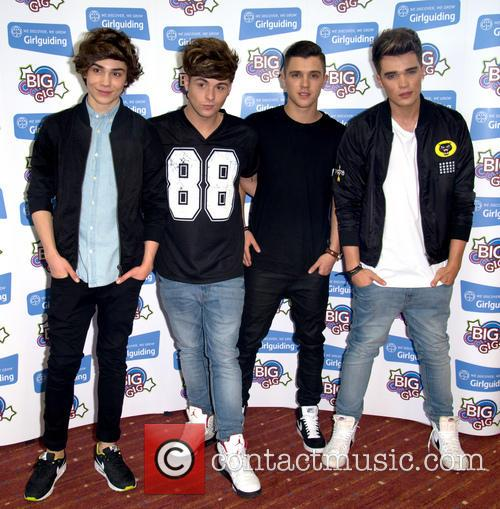 George Shelley, Jaymi Hensley, Jj Hamblett, Josh Cuthbert and Union J 3