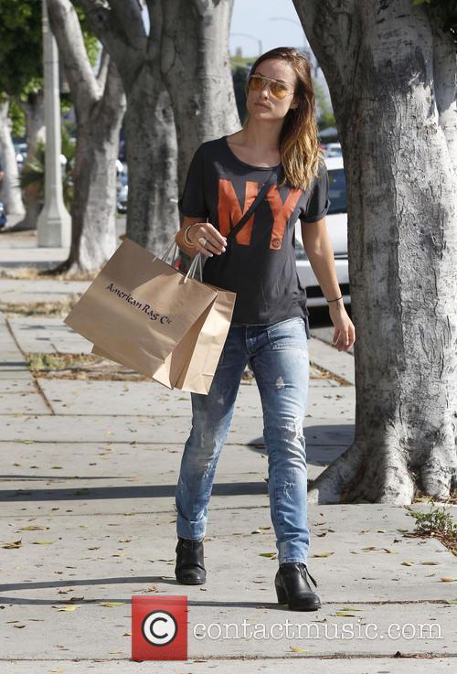 Olivia Wilde shops in Los Angeles