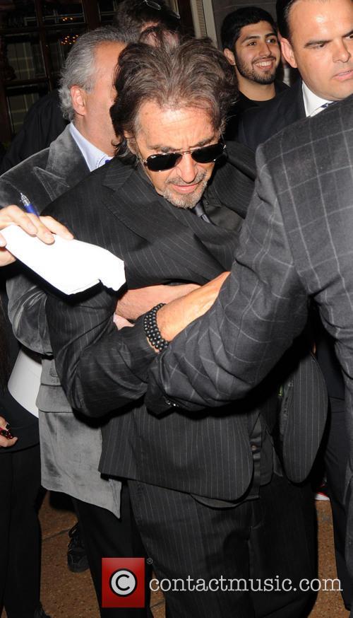 al pacino celebrities leave the ritz hotel 3698396