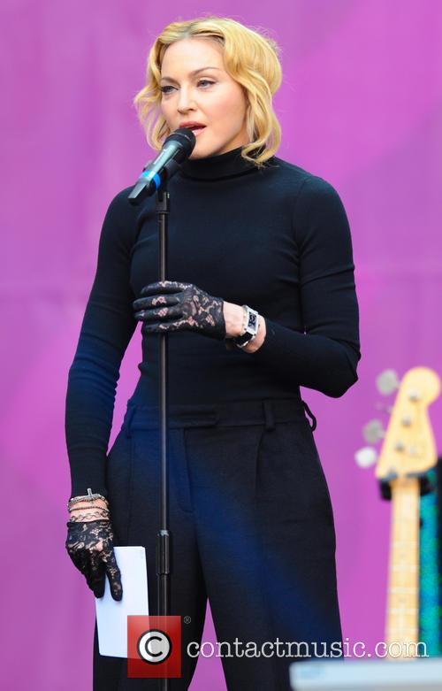 Madonna performed in Las Vegas following three dates in Los Angeles