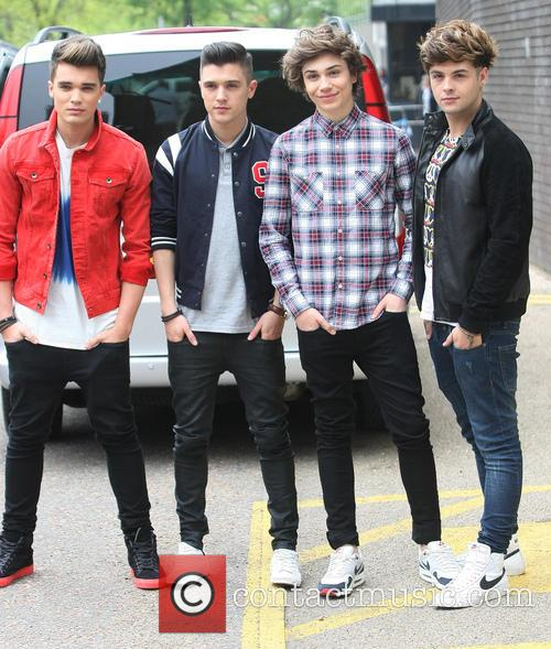 Josh Cuthbert, Jj Hamblett, George Shelley, Jaymi Hensley and Union J 3