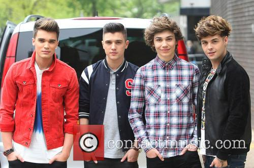 Josh Cuthbert, Jj Hamblett, George Shelley, Jaymi Hensley and Union J 1