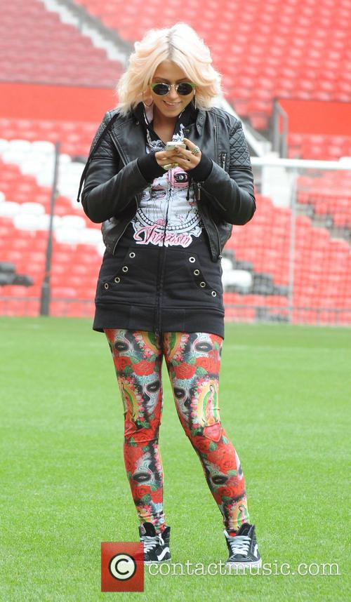 Amelia Lily visits Manchester's Old Trafford stadium
