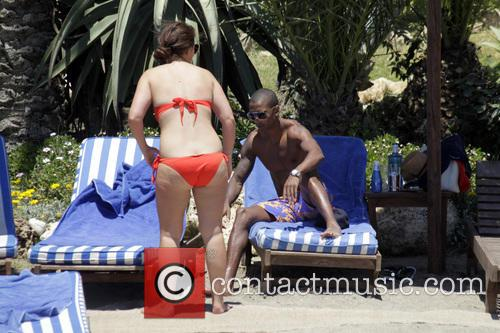 Manchester United winger Ashley Young and his partner...