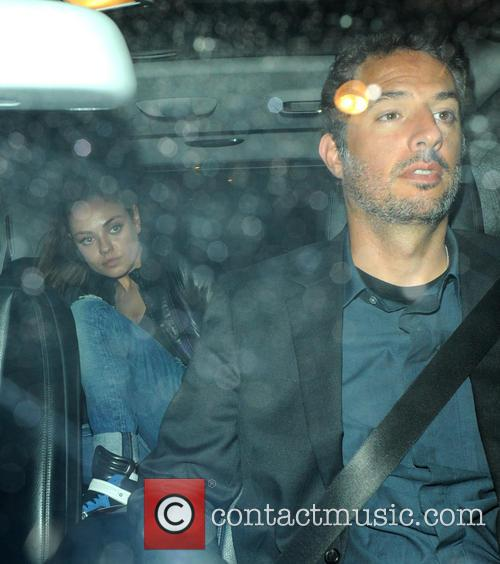 Mila Kunis and Ashton Kutcher leave Dim T restaurant after dining together