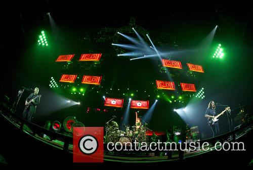 Rush performs to a sold-out crowd at the...