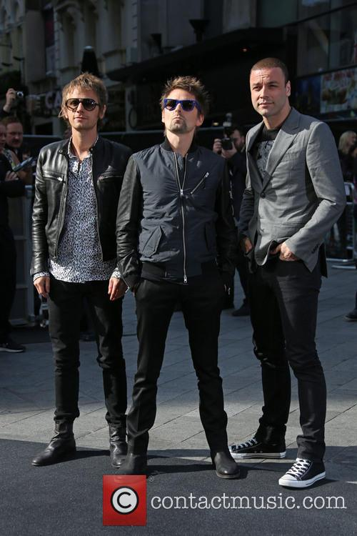 Dominic Howard, Matthew Bellamy and Chris Wolstenholme Of Muse 2