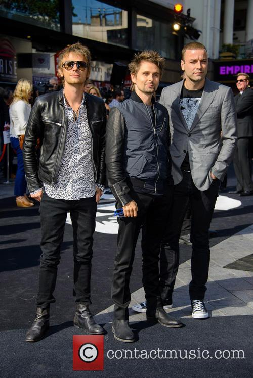 Dominic Howard, Matthew Bellamy, Chris Wolstenholme, Muse, Empire Leicester Square