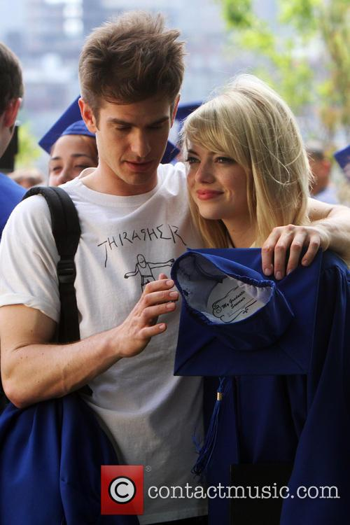 Garfield, Peter Parker, Emma Stone, Gwen Stacy and Spiderman 2