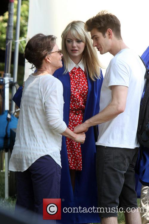 Sally Feild As Aunt May, Emm, Garfield, Peter Parker and Spiderman 2