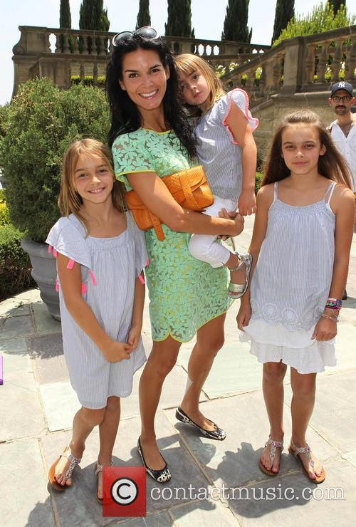 Angie Harmon and Daughters 1