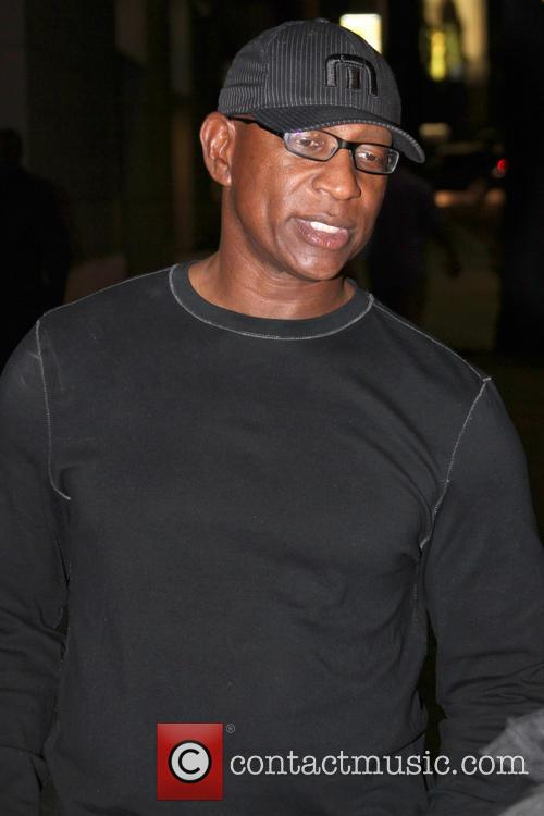 eric dickerson celebrities outside lucky strike bowling 3700640