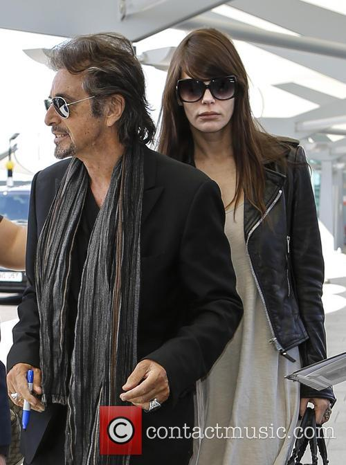 Al Pacino and Lucila Sola at Heathrow Airport