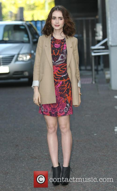 lily collins celebrities at the itv studios 3700576