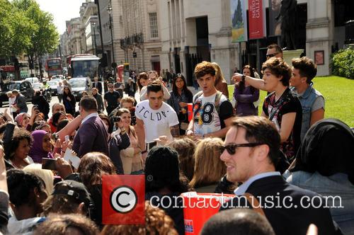 Union J busking in Trafalger Square