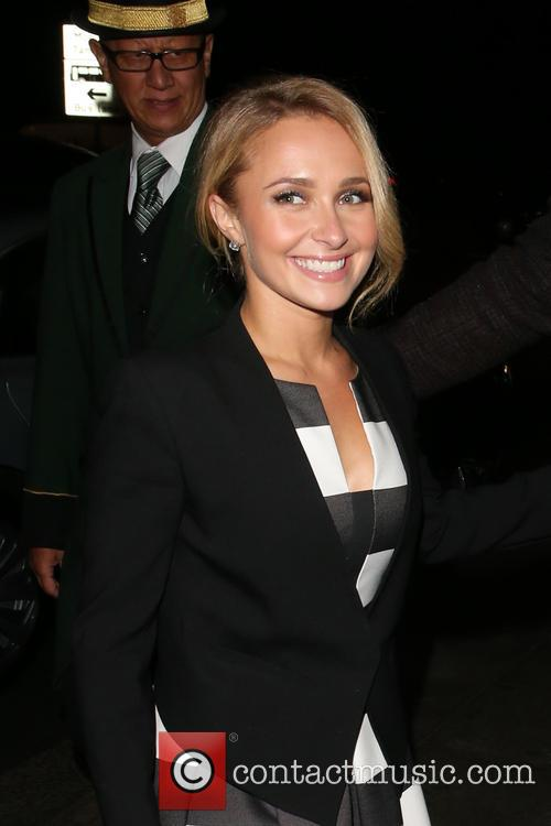Hayden Panettiere arriving back at her hotel