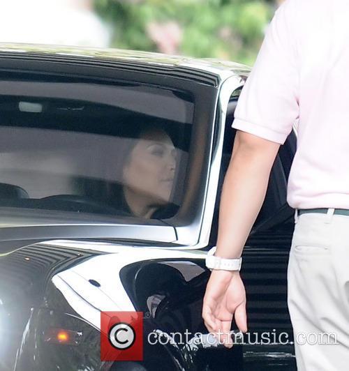 Kim Kardashian and family arrive home