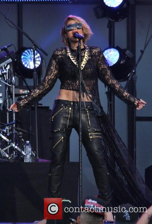 Ciara performs on 'Jimmy Kimmel Live!' in Hollywood