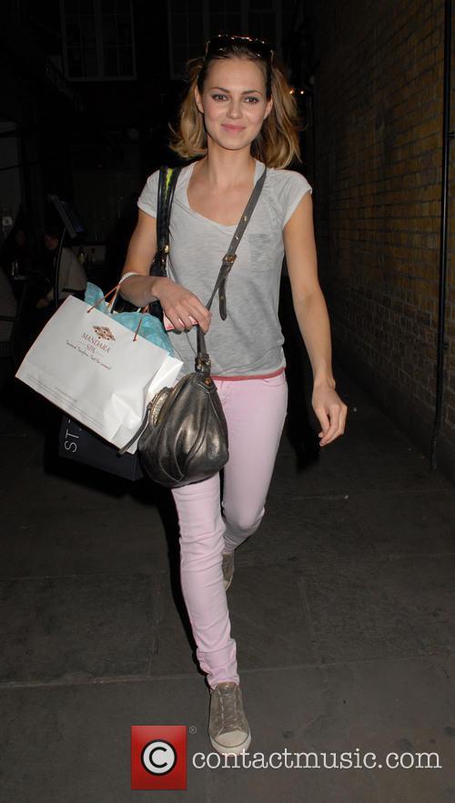 Kara Tointon Leaving The Theatre