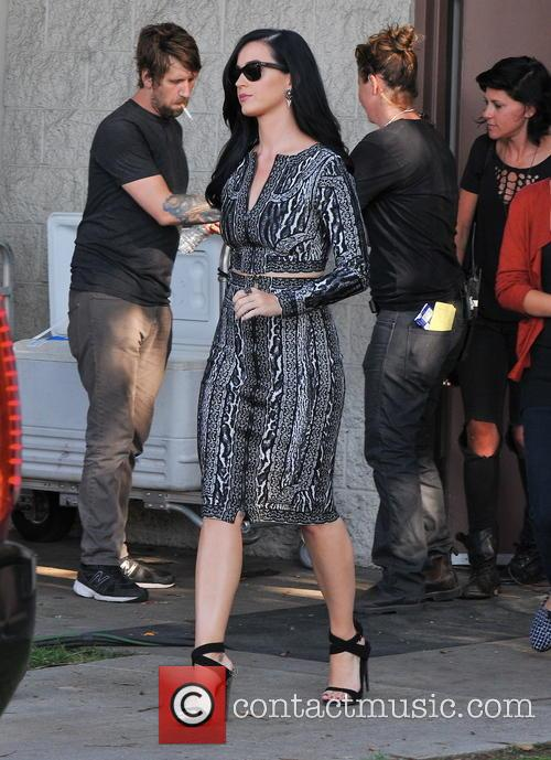Katy Perry On A Film Set