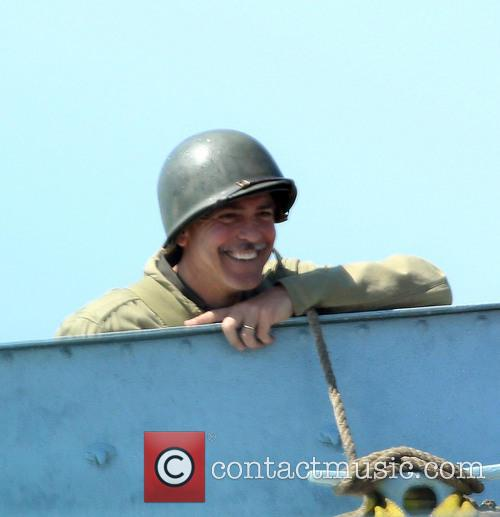 George Cloony filming Monuments Men in Rye, Sussex