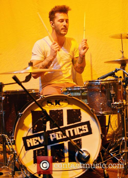 Copenhagen rock band New Politics perform live at...
