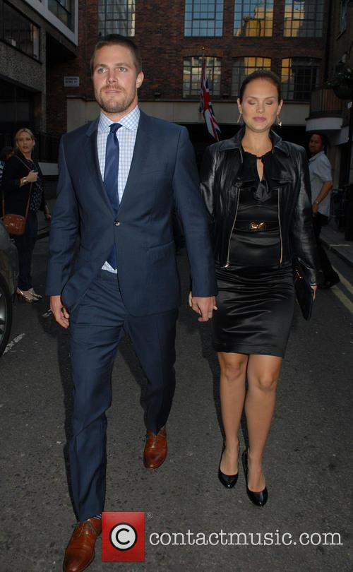 Stephen Amell and Cassandra Jean out and about...