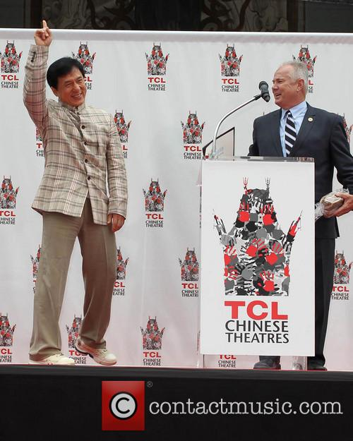 Jackie Chan and Councilman Tom Labonge 1