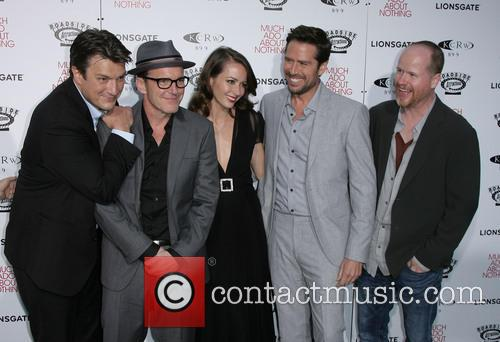 Nathan Fillion, Clark Gregg, Amy Acker, Alexis Denisof and Director Joss Whedon 4