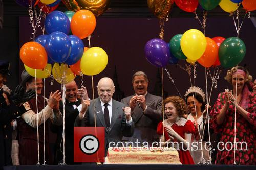 Clarke Thorell, Anthony Warlow, Charles Strouse, Merwin Foard, Lilla Crawford, Jane Lynch, Brynn O'malley and Cast 4