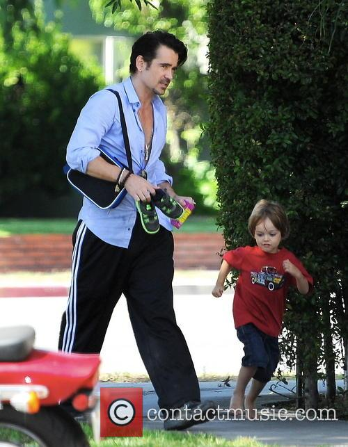 Colin Farrell and Henry 3