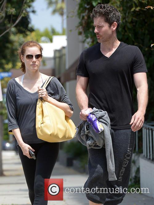 Amy Adams and fiance Darren Le Gallo leave...