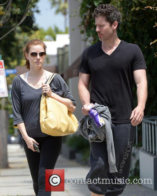 Amy Adams and fiance Darren Le Gallo leave...