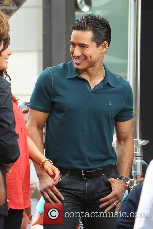 Mario Lopez and Courtney Mazza The Grove