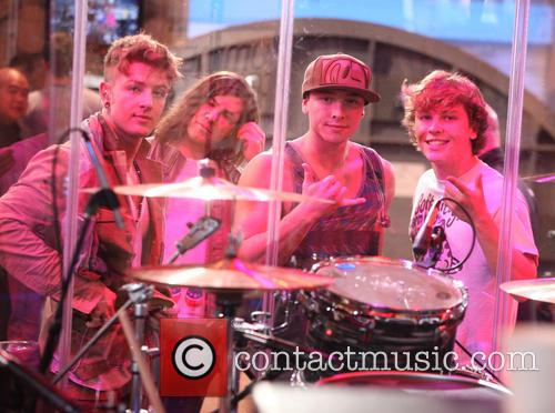 Emblem3, Andrew Chadwick, Wesley Stromberg and Keaton Stromberg 2