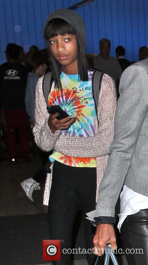 willow smith celebrities arriving at lax airport 3708996