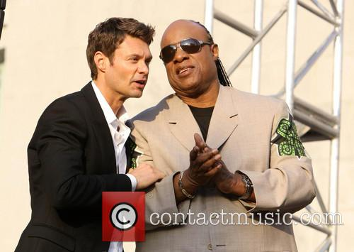 Ryan Seacrest and Stevie Wonder 5