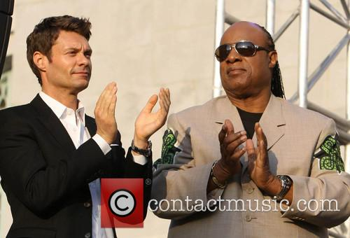 Ryan Seacrest and Stevie Wonder 6