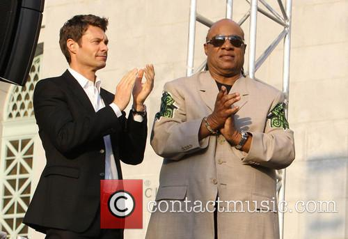 Ryan Seacrest and Stevie Wonder 10
