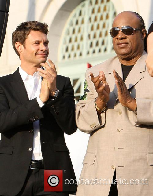 Ryan Seacrest and Stevie Wonder 1
