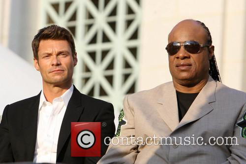 Ryan Seacrest and Stevie Wonder 8