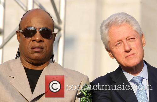 Stevie Wonder and President Bill Clinton 2