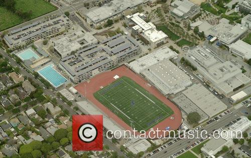 An areal view of Santa Monica College campus...